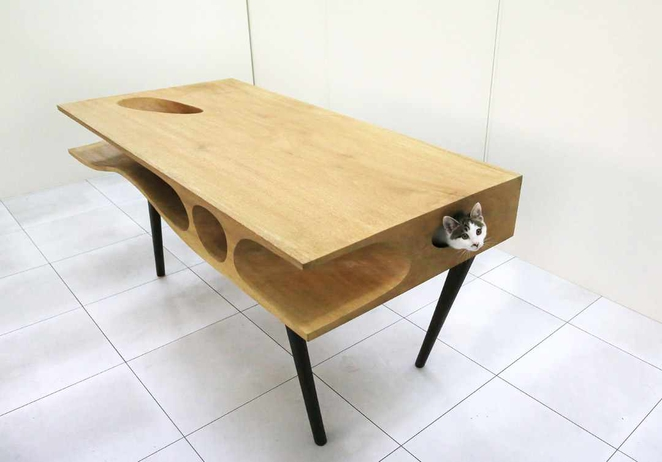 furniture for animals, desk for cat.